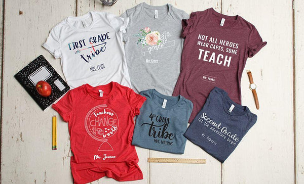 Teachers Change the World T-Shirt Collection (Unisex sizing)