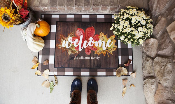 Customized Layered Fall Doormat Sets