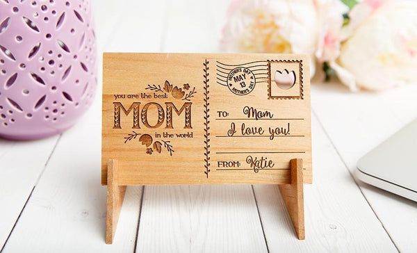 Mother's Day Personalized Wooden Postcards - Free Shipping