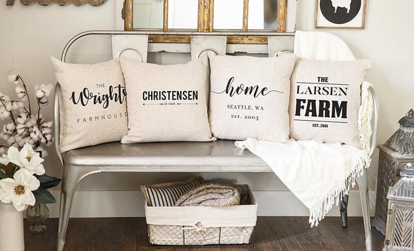 Corporate Holiday Collection - Farmhouse Style Throw Pillow Covers