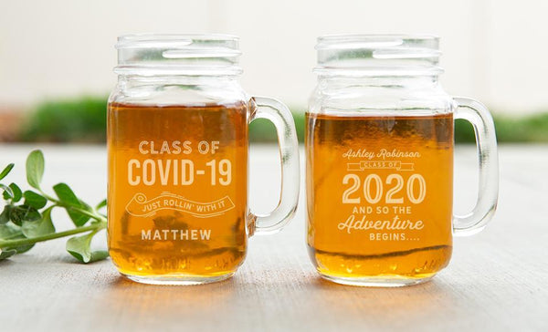 Customized Graduation 2020 Mason Jar Mugs