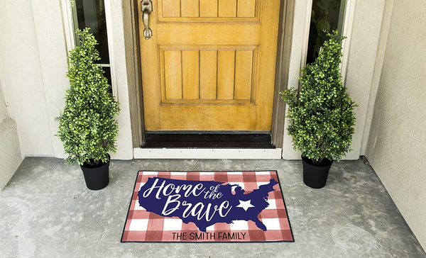 Customized Patriotic Doormats