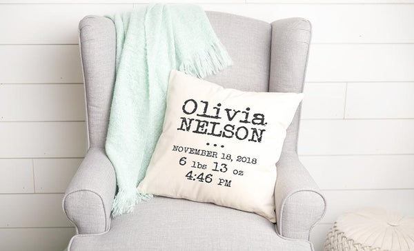 Personalized Welcome Baby Throw Pillow Covers