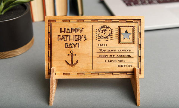 Father's Day Personalized Wooden Postcards