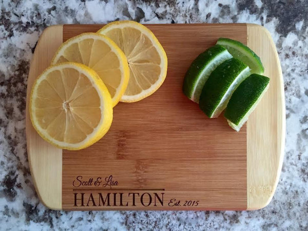 Personalized Cutting Bar Board 6x8 (Rounded Edge) Bamboo - 11 Different Designs!