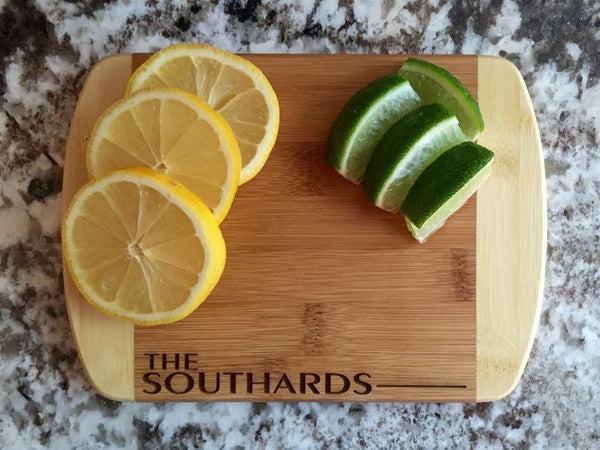 Personalized Cutting Bar Board 6x8 (Rounded Edge) Bamboo