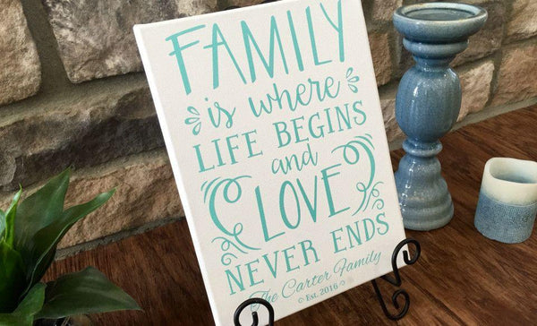 Personalized Family Quote Signs