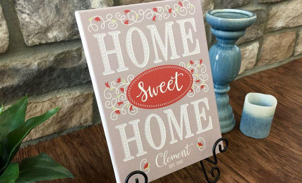 Personalized Home Sweet Home Signs - Qualtry