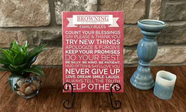 Personalized Family Rules Signs