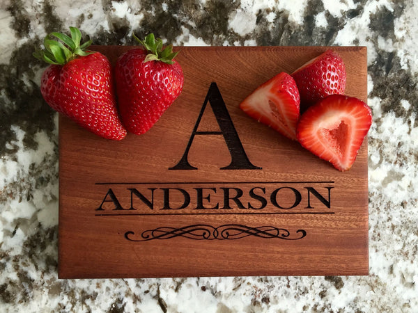 Personalized Beautiful 6 x 8 Mahogany Cutting Board - 11 Designs! - Qualtry Personalized Gifts