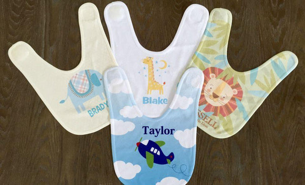 Personalized Baby Bibs - 8 Designs! - Qualtry Personalized Gifts