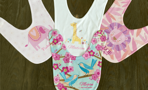 Personalized Baby Bibs - 8 Designs! - Qualtry