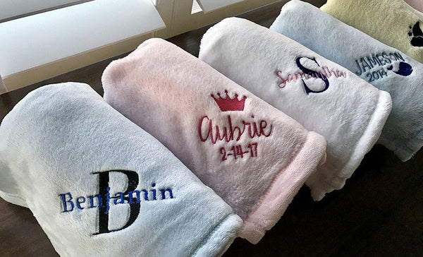 Personalized Soft and Luxurious Baby Blankets