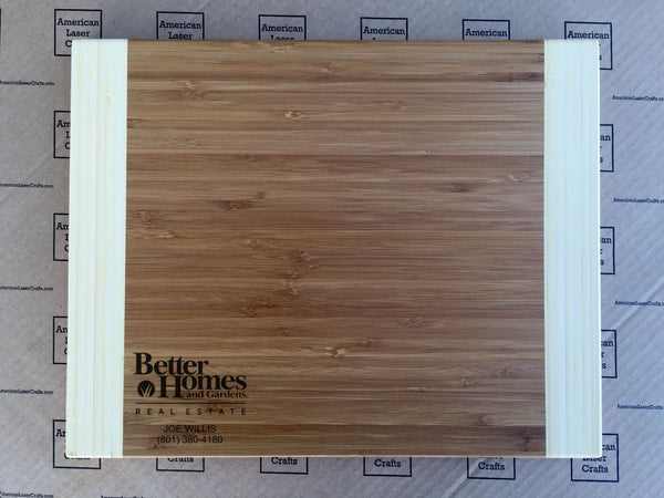 Better Home and Gardens 11x14 Two-Tone Bamboo Boards - Qualtry Personalized Gifts