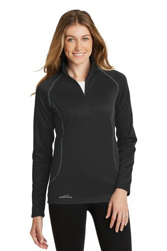 Corporate Apparel - Embroidered Eddie Bauer Ladies 1/2-Zip Base Layer Fleece - EB237