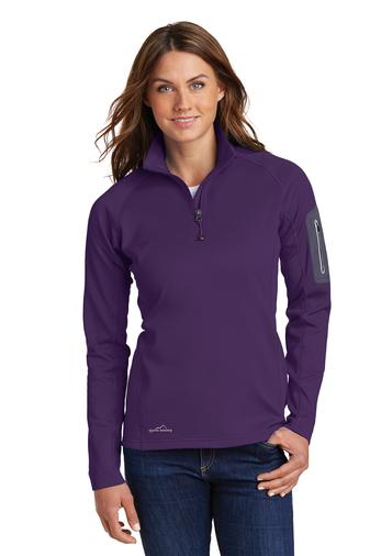 Corporate Apparel - Embroidered Eddie Bauer Ladies 1/2-Zip Performance Fleece - EB235
