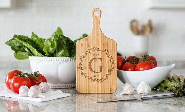 Social Media Deals - Small Handled Bamboo Serving Boards - Modern Collection