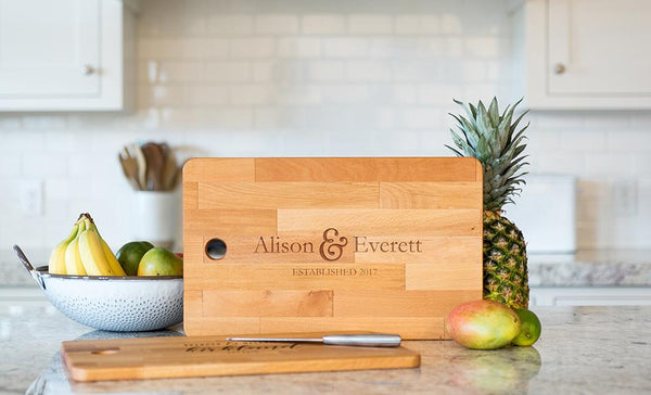 Personalized Cutting Board Chic and Modern 11.5 x 17- Modern Collection