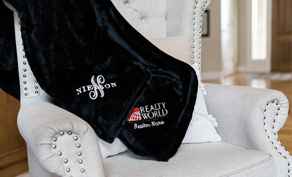 Realty World Custom Embroidered Minky Touch Blankets