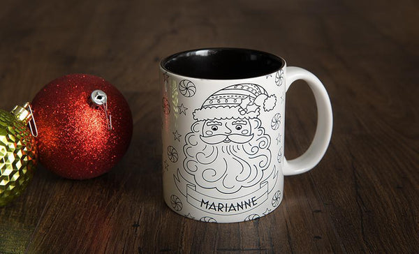 Customized Christmas Coloring Mug