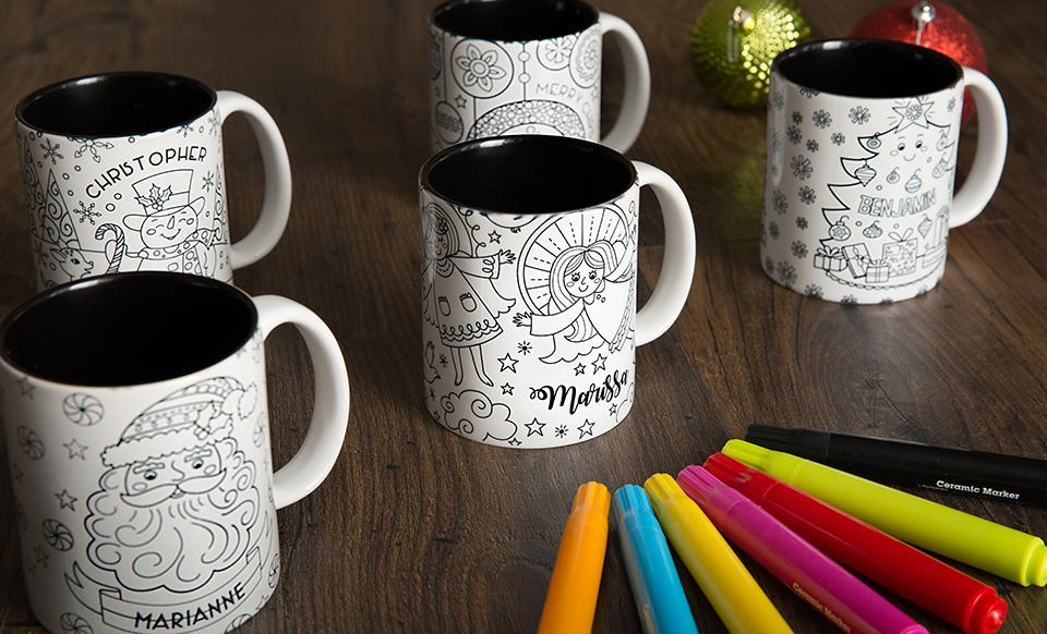 Personalized Christmas Coloring Mug - Qualtry