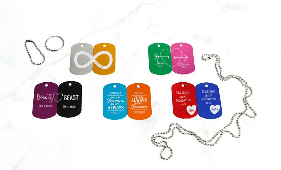 Personalized Dog Tags Love Collection
