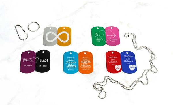 Customized Dog Tags (Set of 2) – Love Collection