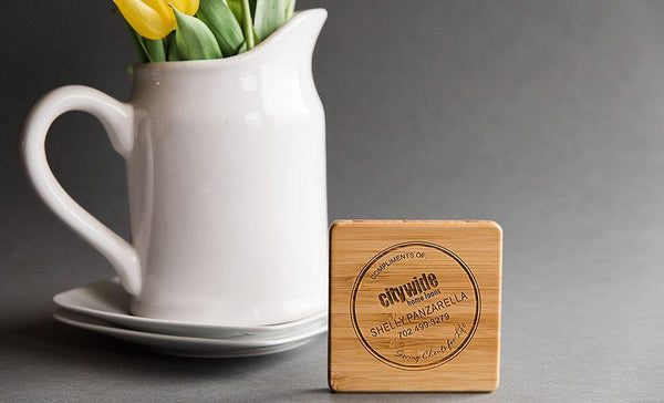 Personalized Thick Bamboo Coaster (sold individually)