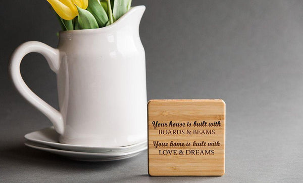 Academy Mortgage Personalized Thick Bamboo Coaster (sold individually)