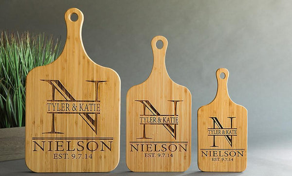 Personalized Handled Bamboo Serving Boards - Exclusive Offer!