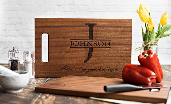 NextHome Personalized Beautiful Large Mahogany Cutting  Board