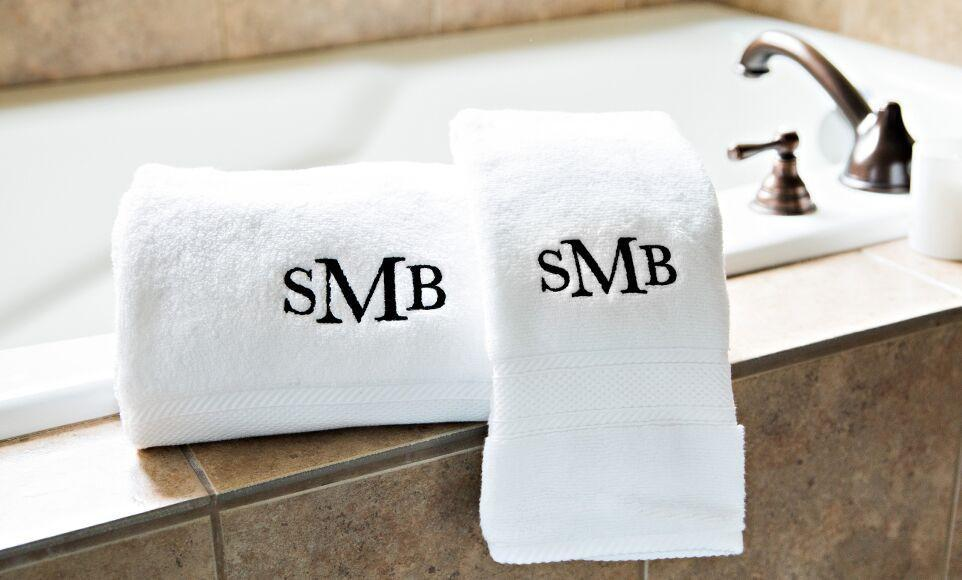 Personalized Luxury Bath Towels Free Hand Towel Qualtry