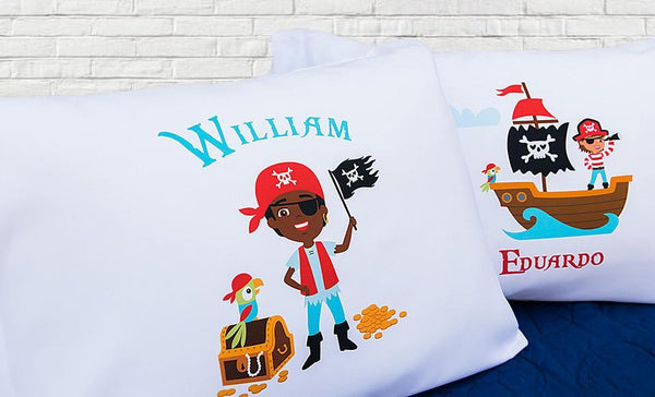Personalized Pirate Pillowcases
