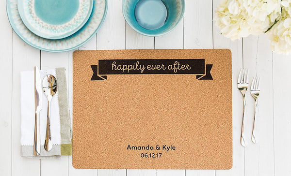 Personalized Cork Placemats - Set of 2