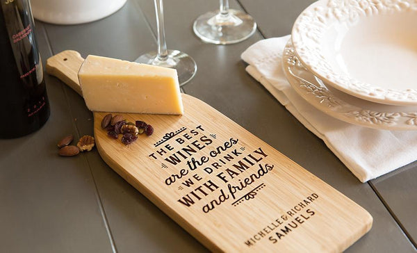 Customized Wine Bottle Shaped Cutting Boards