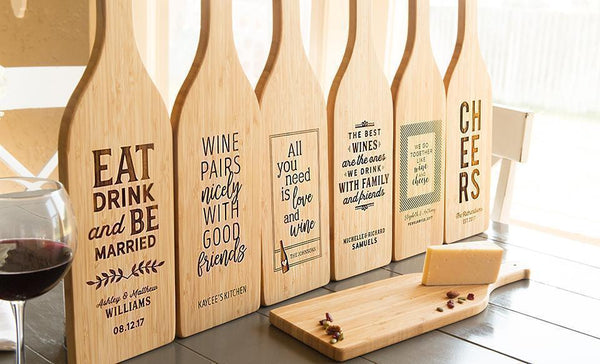 Guaranteed Rate - Wine Bottle Shaped Cutting Boards