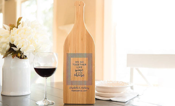 Caliber Home Loans - Wine Bottle Shaped Cutting Boards