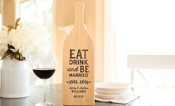 Corporate Gift Item - Wine Bottle Shaped Cutting Boards