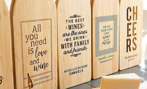 Movement Mortgage - Wine Bottle Shaped Cutting Boards