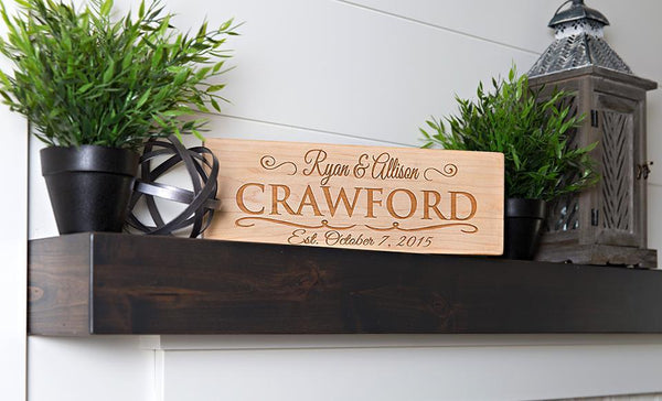 Corporate Gift Item - Personalized Engraved House Signs