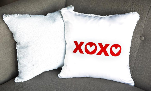 Love-themed Two-tone Sequin Pillow Covers