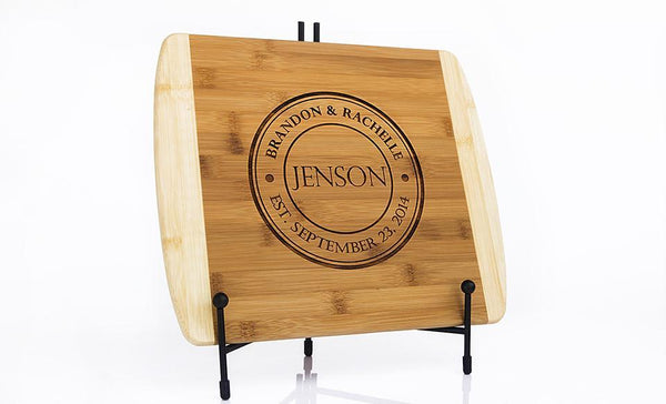Personalized Bamboo Cutting Board 11x14 (Rounded Edge) – 7 Designs