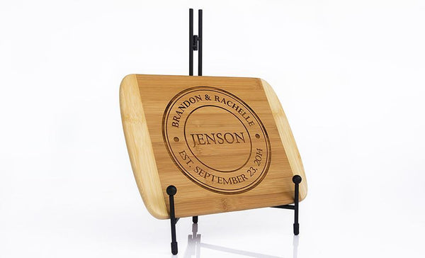 Corporate Gift Item - 8.5x11 Two Tone Cutting Board (Rounded Edge)