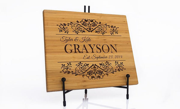 Personalized Bamboo Cutting Board 11x13 - 11 Designs!