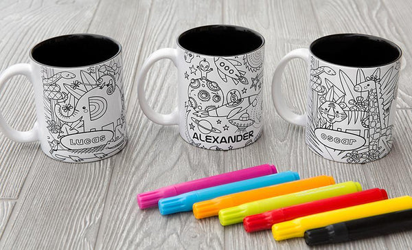 Personalized Coloring Mugs (Markers included)