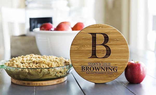 Personalized Solid Bamboo Trivets - 2 Trivets - FREE set of Bamboo Coasters