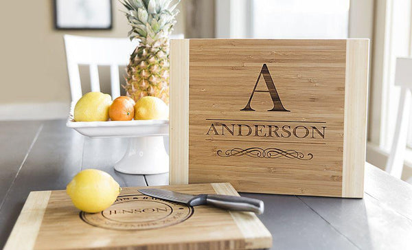NextHome Personalized Cutting Board 11x14 Bamboo