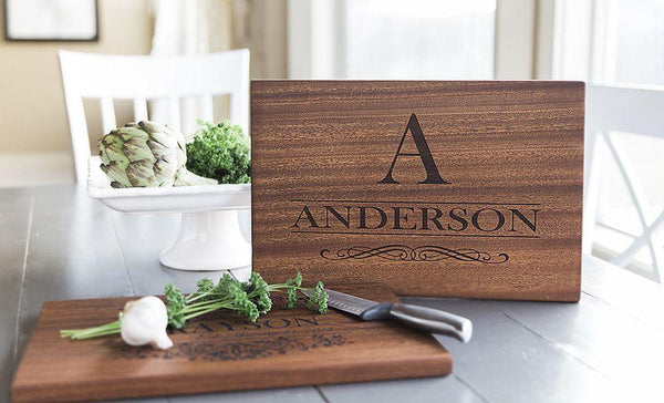 Triple Branded Flagship, Academy and Select Title Personalized Beautiful Large Mahogany Cutting Board