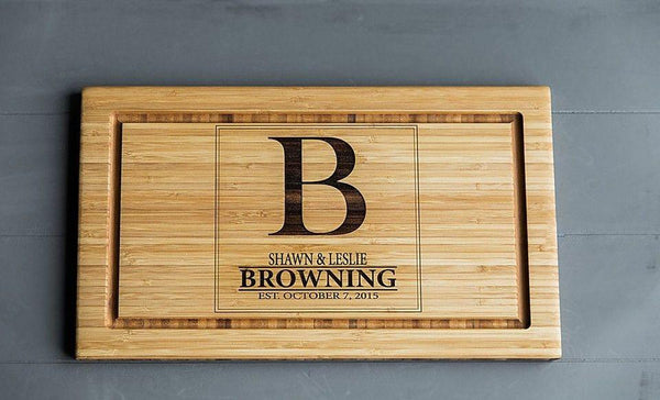 NextHome Personalized Cutting Board 11x17 Bamboo