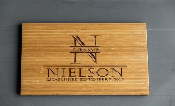Realty World Personalized Cutting Board 11x17 Bamboo